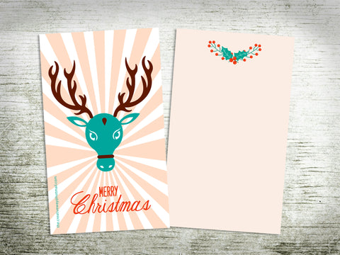 CARDS - FLAT {indian reindeer/holy cow}