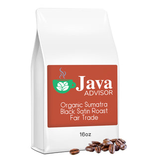 Organic Sumatra Black Satin Roast Fair Trade