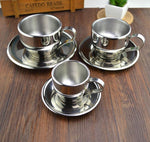 Stainless Steel double layer coffee cup set. Perfect for espresso!
