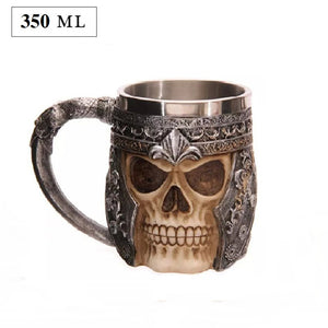 3D Creative Skull Mug | Double Wall Stainless Steel | Coffee Mug