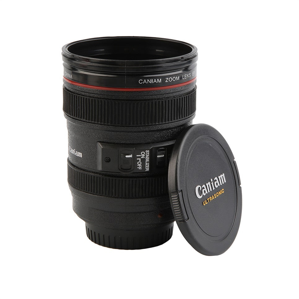Travel Coffee Mug - Camera Lens Cup