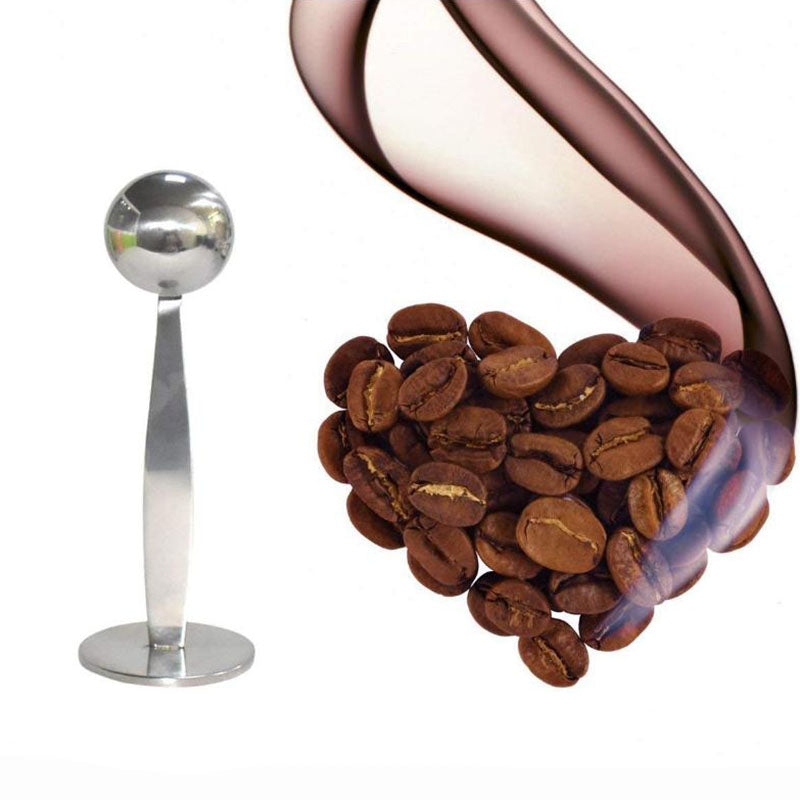 Stainless Steel 2 In 1 Coffee Measuring Scoop and Tamper
