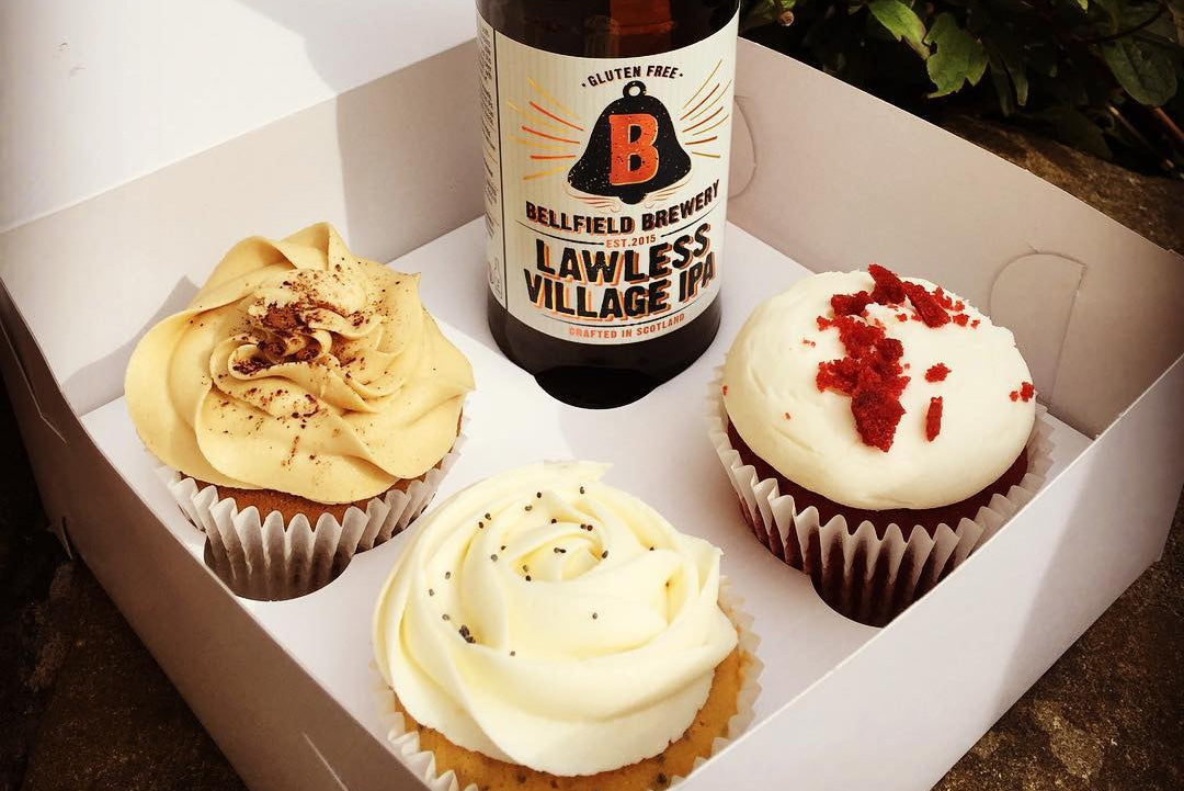 Lawless Village IPA and gluten-free cupcakes