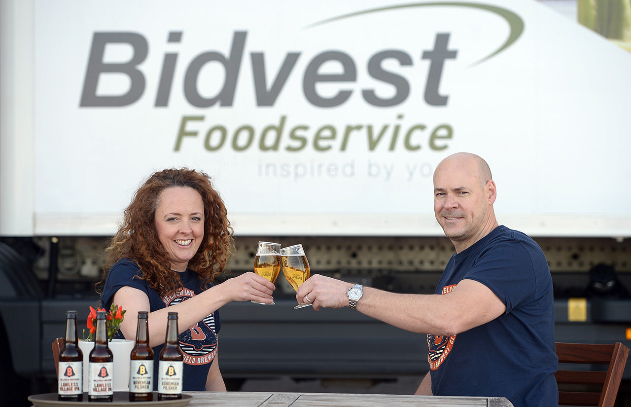Bellfield Brewery's Anna Orr and Kieran Middleton
