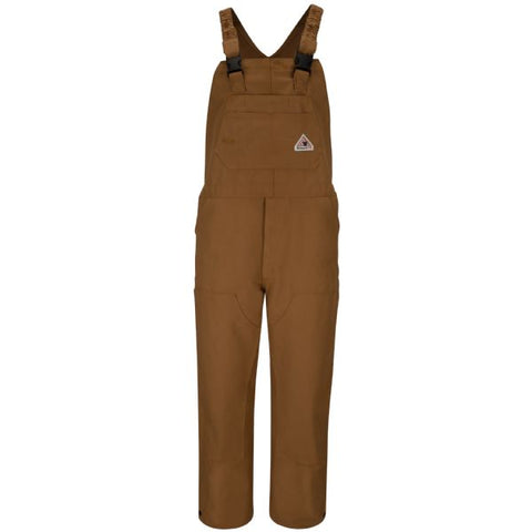 Bulwark Brown Duck UNLINED BIB OVERALL (BLF6) - True Safety Gear