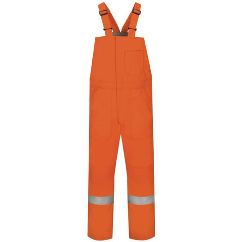 BULWARK Orange DELUXE INSULATED BIB OVERALL WITH REFLECTIVE TRIM - EXCEL FR (BLCS)