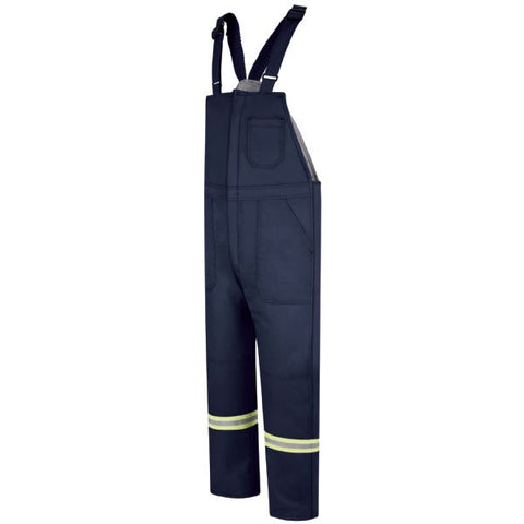 BULWARK Navy DELUXE INSULATED BIB OVERALL WITH REFLECTIVE TRIM - EXCEL FR (BLCT)