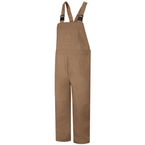 Bulwark Brown Duck Unlined Bib Overall - Excel FR ( BLF8 ) - True Safety Gear