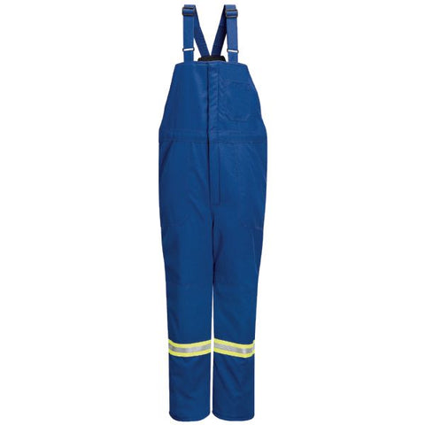 BULWARK Royal Blue DELUXE INSULATED BIB OVERALL WITH REFLECTIVE TRIM - NOMEX (BNNT) - True Safety Gear