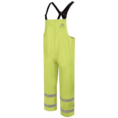 BULWARK HI-VISIBILITY FLAME-RESISTANT RAIN BIB OVERALL (BXN6YE) - True Safety Gear
