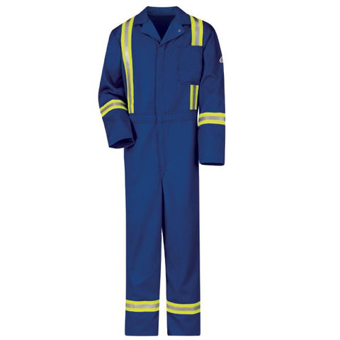 Bulwark Royal Blue CLASSIC COVERALL WITH REFLECTIVE TRIM - EXCEL FR (CECT) - True Safety Gear