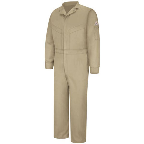 BULWARK Khaki DELUXE COVERALL - EXCEL FR (CLD6) - True Safety Gear