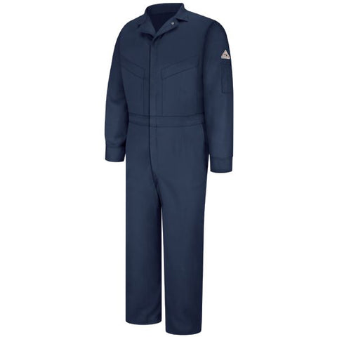 BULWARK Navy  DELUXE COVERALL - EXCEL FR (CLZ4) - True Safety Gear