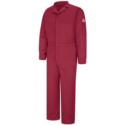 BULWARK Red DELUXE COVERALL - EXCEL FR (CLD6) - True Safety Gear