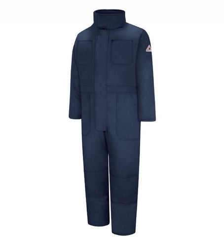 BULWARK Navy PREMIUM INSULATED COVERALL - NOMEX - True Safety Gear