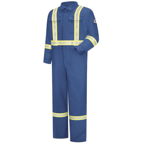 BULWARK Royal Blue PREMIUM COVERALL WITH CSA COMPLIANT REFLECTIVE TRIM, 7OZ - EXCEL FR (CTBA) - True Safety Gear