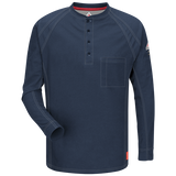 Bulwark IQ SERIES LONG SLEEVE HENLEY (QT20) - True Safety Gear