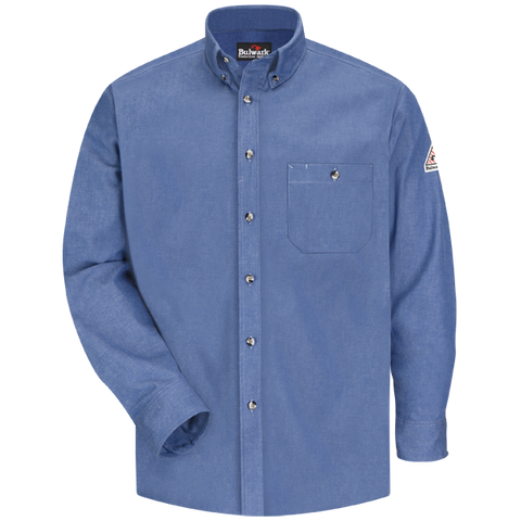 Bulwark DENIM DRESS SHIRT - EXCEL FR (SEG2LD) - True Safety Gear