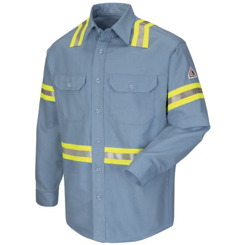 BULWARK ENHANCED VISIBILITY UNIFORM SHIRT - EXCEL FR COMFORTOUCH (SLDT) - True Safety Gear
