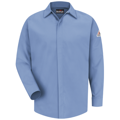 Bulwark CONCEALED-GRIPPER POCKETLESS WORK SHIRT -EXCEL FR COMFORTOUCH  (SLS2) - True Safety Gear