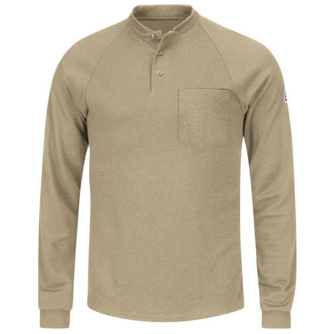 Bulwark LONG SLEEVE HENLEY SHIRT- COOLTOUCH 2( SML2 ) - True Safety Gear
