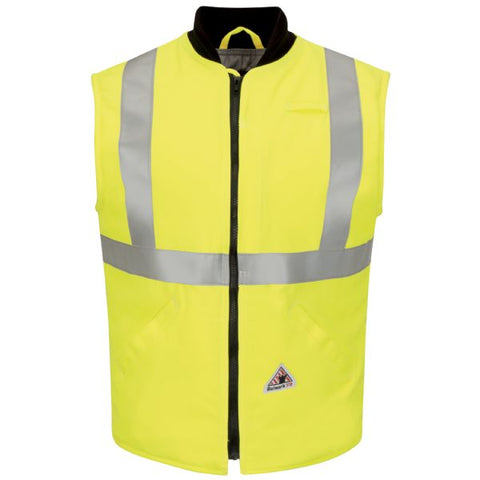 Bulwark HI VIS INSULATED VEST WITH REFLECTIVE TRIM - COOLTOUCH (VMS4) - True Safety Gear