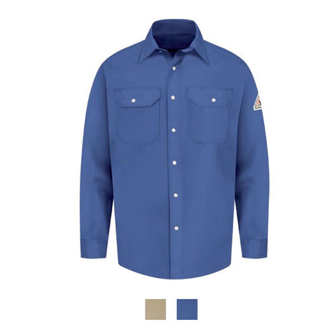 Bulwark SNAP-FRONT UNIFORM SHIRT - EXCEL FR® - 7 OZ. (SES2) - True Safety Gear