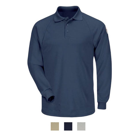Bulwark CLASSIC LONG SLEEVE POLO - COOLTOUCH  (SMP2 ) - True Safety Gear