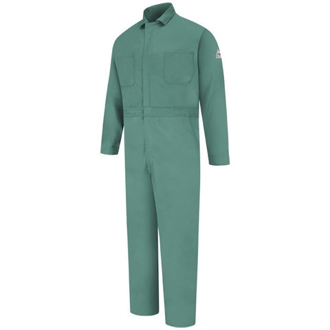 Bulwark Visual Green CLASSIC GRIPPER-FRONT COVERALL - EXCEL FR (CEW2) - True Safety Gear