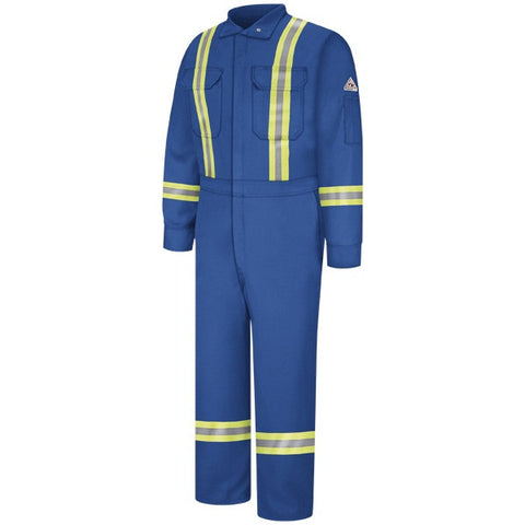 Bulwark Royal Blue PREMIUM COVERALL WITH REFLECTIVE TRIM - EXCEL FR (CLBT) - True Safety Gear