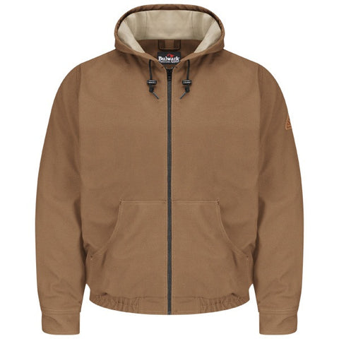 BULWARK BROWN DUCK HOODED JACKET (JLH4BD)