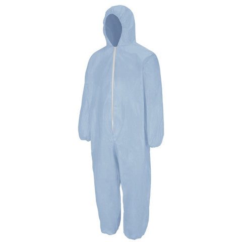 BULWARK Sky Blue  CHEMICAL SPLASH DISPOSABLE FLAME-RESISTANT COVERALL (KDE4) - True Safety Gear