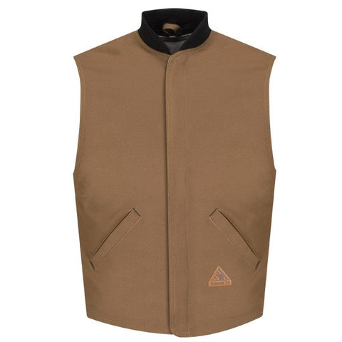 BULWARK BROWN DUCK VEST JACKET LINER (LLS2BD)