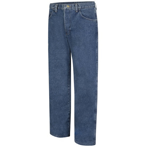 Bulwark LOOSE FIT STONE WASHED DENIM JEAN - EXCEL FR (PEJ6) - True Safety Gear