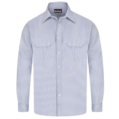 Bulwark STRIPED UNIFORM SHIRT - EXCEL FR(SEU2) - True Safety Gear