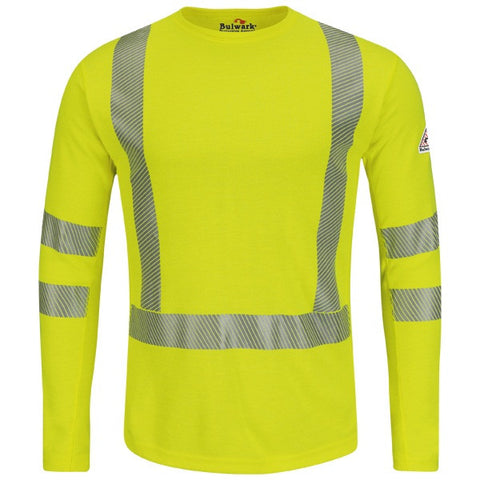 Bulwark HI-VISIBILITY LONG SLEEVE T-SHIRT (SMK2) - True Safety Gear