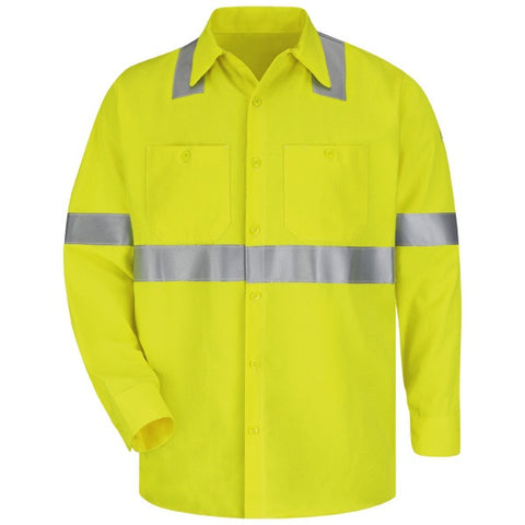 Bulwark HI-VISIBILITY WORK SHIRT - COOLTOUCH ( SMW4 ) - True Safety Gear