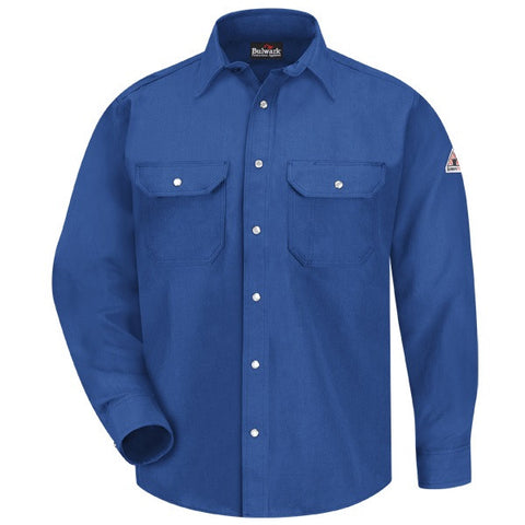 Bulwark SNAP-FRONT UNIFORM SHIRT - NOMEX ( SNS6 ) - True Safety Gear