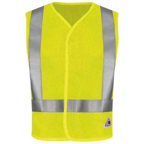 Bulwark HI-VISIBILITY FLAME-RESISTANT MESH SAFETY VEST (VMV8) - True Safety Gear