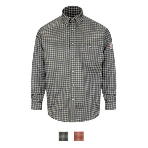Bulwark PLAID DRESS SHIRT - EXCEL FR COMFORTOUCH ( SLG8 ) - True Safety Gear