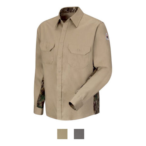 BULWARK CAMO UNIFORM SHIRT - EXCEL FR COMFORTOUCH ( SLU4) - True Safety Gear