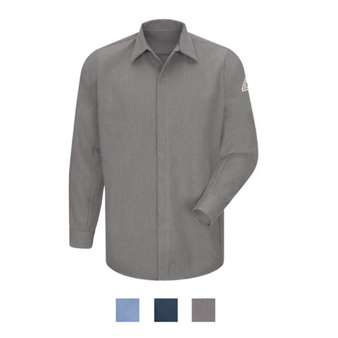 Bulwark CONCEALED-GRIPPER POCKETLESS SHIRT - COOLTOUCH (SMS2)