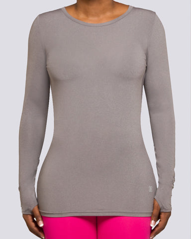Mesh Open Back Long Sleeve - Brick Built  - 1