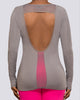 Mesh Open Back Long Sleeve - Brick Built  - 6