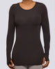 Mesh Open Back Long Sleeve - Brick Built  - 2
