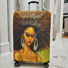 african american luggage cover