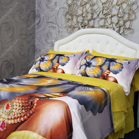 Unbothered Flower Head 8 Piece Duvet Set