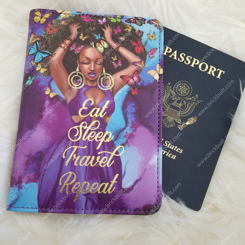 Eat Sleep Travel Repeat Passport Cover