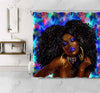 black girl magic shower curtain