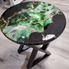 Black, Green, and Gold Accent Tabletop